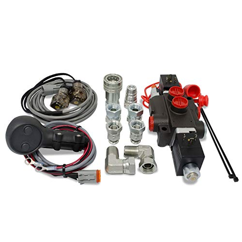 Hydraulic Third Function Valve Kit w/Joystick Handle, 13 GPM (1/2' AG Couplers)