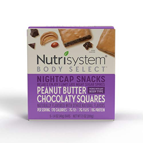 Nutrisystem® Body Select™ Nightcap Snacks: Peanut Butter Chocolaty Squares 30ct Delicious LateNight Treats That Aren't Off Limits
