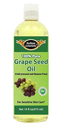 Grapeseed Oil 16 OZ - 100% Pure Cold pressed and Hexane free