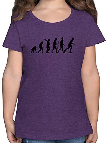 Evolution Kind - Inliner Evolution - 140 (9/11 Jahre) - Lila Meliert - F131K - Mädchen Kinder T-Shirt