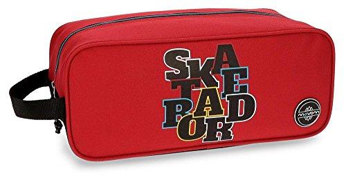 Movom Skateboard Zapatillero Rojo 34x14x15 cms Poliéster