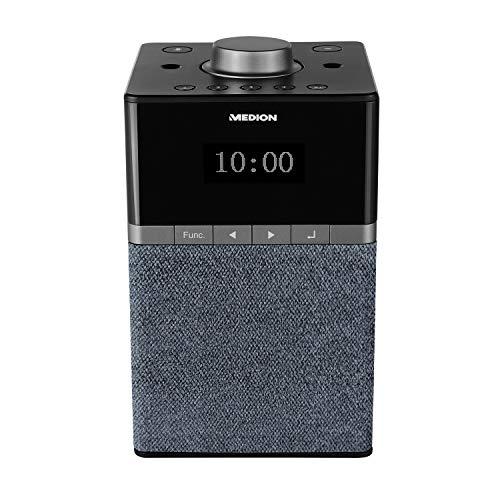MEDION P66130 WLAN Internet DAB+ Radio mit Amazon Alexa, Dot Matrix Display, PLL UKW, DLNA kompatibel, Fernfeld Spracherkennung, Multiroom-Funktion, Musikstreaming