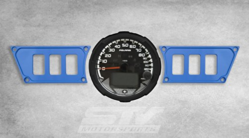 STVMotorsports Custom Aluminum Blue Dash Panel for 2015-2018 Polaris RZR XP 900 with 6 Switch Openings (no switches Included)