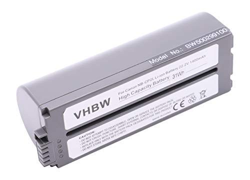 vhbw Li-Ion Akku 1400mAh (22.2V) für Drucker Kopierer Scanner Etiketten-Drucker Canon Selphy CP-100, CP-1000, CP-1200, CP-1300, CP-200, CP-220