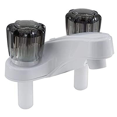"4"" RV Faucet | White | RV Bathroom Accessories | RV Bathroom Sink | Lavatory Faucet"