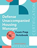 """Image of Defense Unaccompanied Housing Manager Certification Exam Preparation Notebook, examination study writing notebook, Office writing notebook, 154 pages, 8.5"""" x 11"""", Glossy cover"""