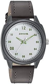 سوناتا فولت+ ، مقاومة للماء، ميناء أبيض، ساعة رجالي