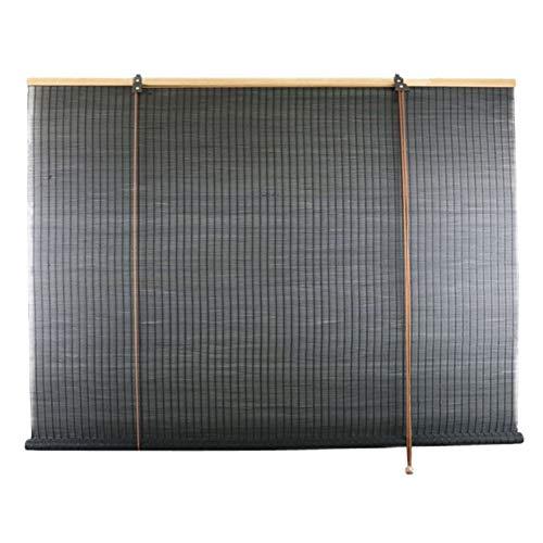 Cortina de Bambu Persiana Enrollable de Bambú Tipo Gancho Negro, Cortinas Plisadas con Filtro de Luz para Ventana/ Puerta/ Salón de Té, Ancho 85cm/ 105cm/ 125cm/ 145cm ( Size : 105×120cm/41.3×47.2in )