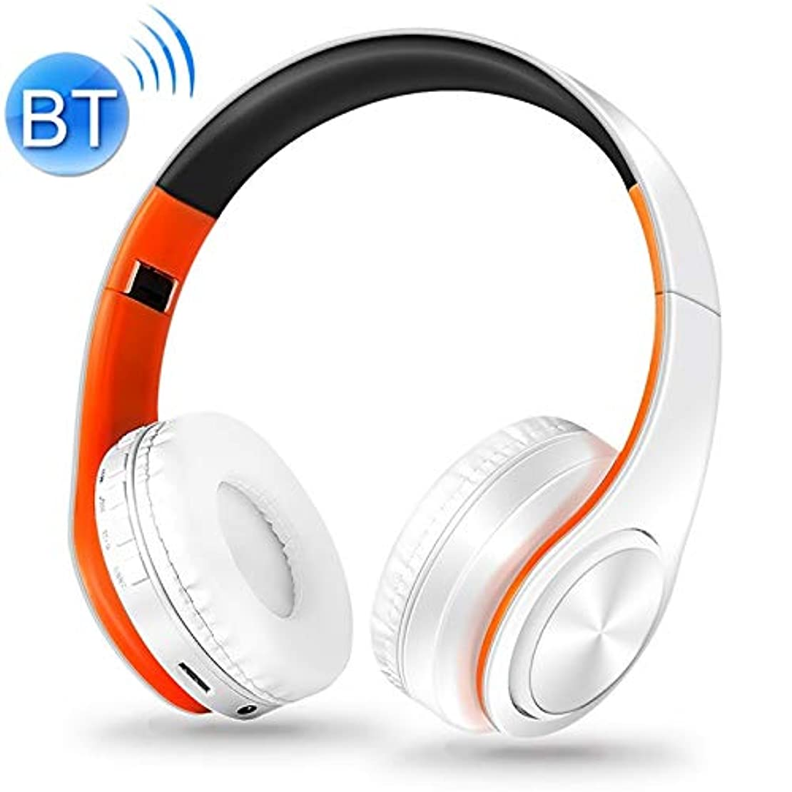 社会科伝えるフォームHeadphone LPT660ワイヤレス折りたたみ式スポーツステレオミュージックブルートゥース電話イヤホンサポートTFカード(オレンジ)、待機時間:250時間以上 Headphone (色 : オレンジ)