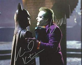 TIM BURTONS BATMAN 1989 Signed REPRINT 8x10 inch photograph Reprinted from Original JOKER Jack Nicholson Michael Keaton