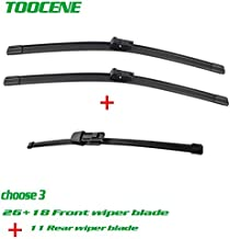 Occus Wipers Front & Rear Wiper Blades for Vw Golf Estate Mk7 2012-2017 Rubber Window Windscreen Windshield Car Accessories