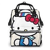 Hello Kitty Sailor Bolsa de pañales para mamá, multifunción, gran capacidad, mochila de viaje