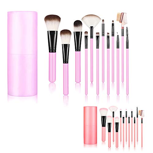Profi Make Up Pinsel Core 12 PCS SET Foundation Blending Blush Eyeliner Puder-Pinsel-Set Make-up...