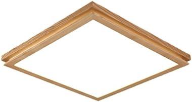 Lampes de plafond Plafonniers Plafonnier nordique à LED en bois carré plafonnier chambre à coucher étude salon intérieur Plaf