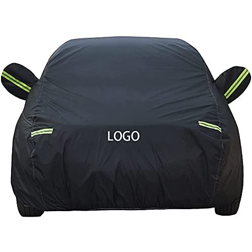 HBKJ Funda para Coche Compatible con BMW I3 IX3 I8 X1 X2 X3 X4 X5 X6 X7 Z4 Transpirable Impermeable Cubierta De Coche con Logo Resistente Anti-UV Protector Interior Exterior Cubre Coche