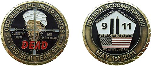 God Bless The United States and Seal Team six Collectible Challenge Coin/Logo Poker/Lucky Chip