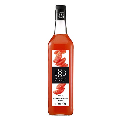 1883 Maison Routin - Pink Grapefruit Syrup - Made in France | 1 Liter (33.8 oz)