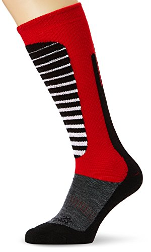 Rywan Rywarm Mixte Adulte, Anthracite/Rouge, FR : Chaussettes : 35-38 (Taille Fabricant : 35-37)
