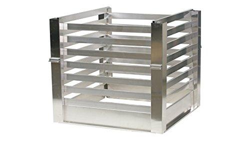 metallfunktion Aluminium Komposter Metall Kompostbehälter 1m x 1m 960L (roh)