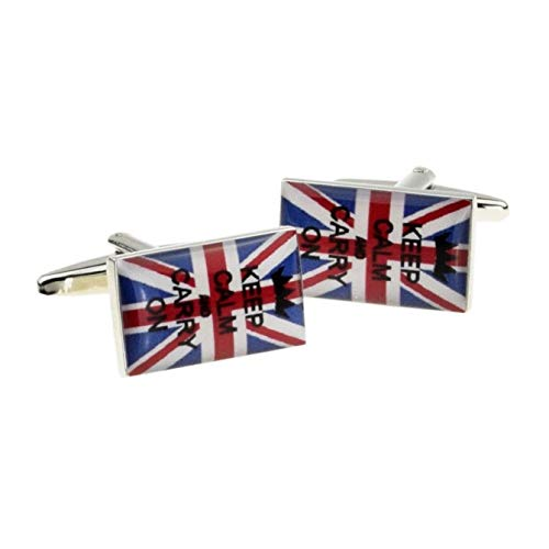 Keep Calm & Carry On Manschettenknöpfe Union Jack