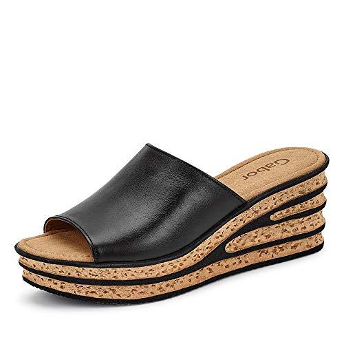 Gabor Shoes Damen Casual Pantoletten, Schwarz (Schwarz 27), 39 EU