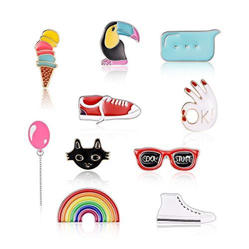 KunmniZ - Broche de zapatos para zapatillas de deporte de helado para banquetes ligeramente amargo y alfileres de corsé, insignias de vestir, diseño mixto