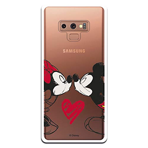 Carcasa Oficial Mickey Y Minnie Beso Clear para Samsung Galaxy Note 9