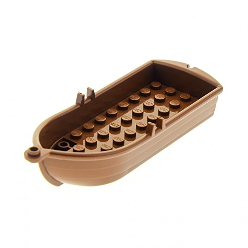 1 x Lego System Boot braun mit Ruder Dollen Paddelboot Piraten Soldaten Indianer Insulaner 6285 6278 6296 2551