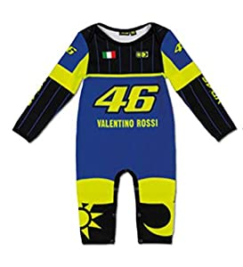 Valentino Rossi VRKOA363409003, Onesie Responder Bebé Unisex, Azul Royal, 6 Mesi