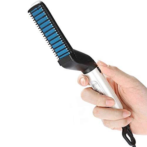 ZCFXGHH Cepillo de Peine para Alisar Barba para Hombres, Alisador de Cabello rápido para peinar, Alisador de Cabello Multifuncional para Alisar el Cabello