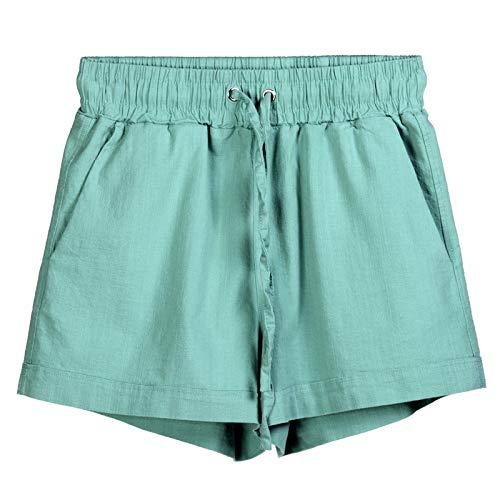 Pantalones Cortos para Mujer Primavera y Verano Pantalones Cortos elásticos Deportivos Casuales de Pierna Ancha Sueltos Pantalones Cortos Casuales de Moda para Todos los Partidos XXL