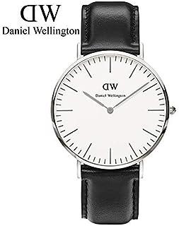 【官方授权 顺丰包邮】丹尼尔惠灵顿(Daniel Wellington)手表 DW男表 40mm表盘银色边皮带超薄男士石英手表 (由亚马逊国内商家配送)