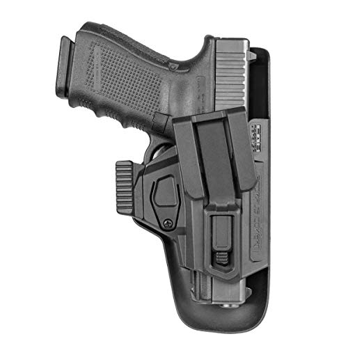 GARRET MACHINE Deep Concealment Holster Compatible with Glock 17 or G19 for Every Day Carry (EDC) Appendix Inside The Waistband (IWB/AIWB)