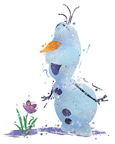 8x10 P17 Frozen Olaf Poster.Inspired Watercolor Art Print.Disney Frozen Olaf Poster.Girls Room Wall Art.Kids Art.Birthday Gift