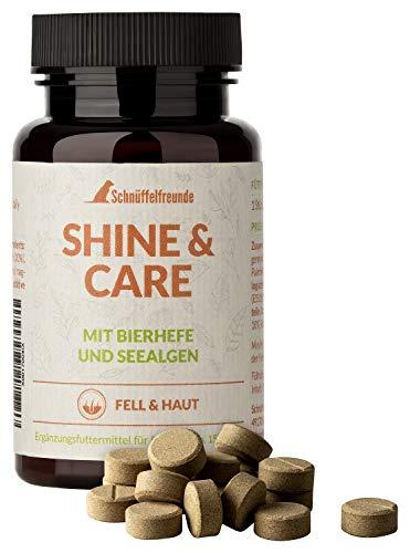 Schnüffelfreunde Shine & Care I Suplemento nutricional para la Piel y el Pelaje para Perros - con levadura de Cerveza y harina de Algas para el Perro