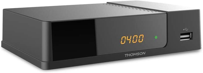 Thomson THT504+ Tuner DVB-T HD, HDMI, Perital, Audio Digital, USB Negro Decodificador TDT Full HD