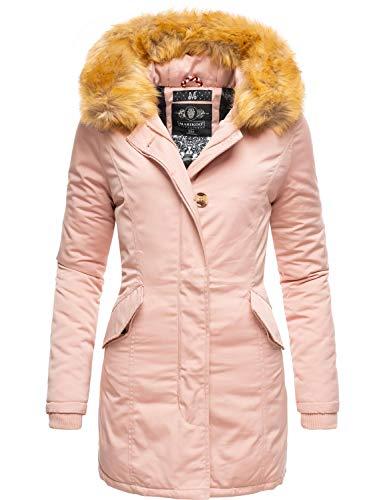 Marikoo Damen Winter Mantel Winterparka Karmaa Rosa Gr. S