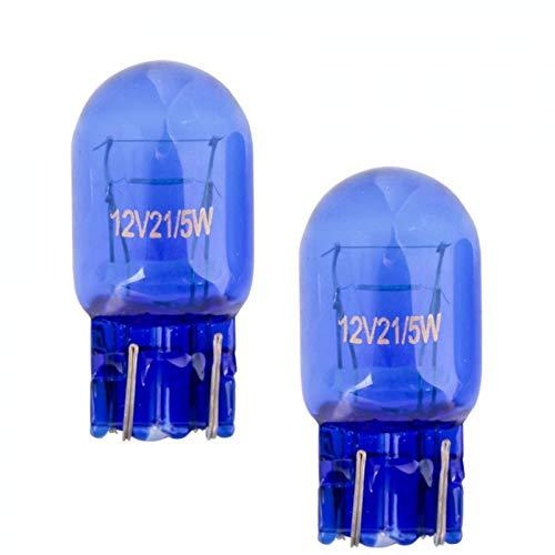 2x Stück - T20 – W21/5W - W3x16d - 21/5W - 12V – SUPER WHITE KFZ Beleuchtung Tagfahrlicht Glühlampe Glühbirne Soffitte Autolampen