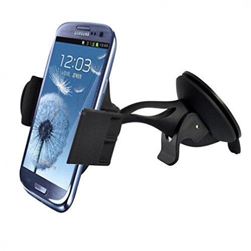 Premium Compact Car Mount Windshield Phone Holder for Sprint HTC Desire 626s - Sprint HTC EVO 4G LTE - Sprint HTC One - Sprint HTC One M8 - Sprint Samsung Galaxy S3 SPH-L710