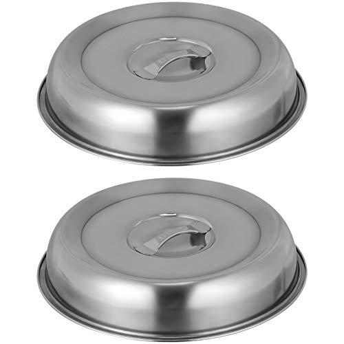 HEMOTON Juego de 2 campanas de acero inoxidable, 20 cm, tapa para cacerolas de carne