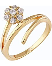 18K Gold Plated Crystal Rhinestone Ring