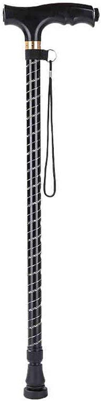 Alpenstock Folding Folding Folding Cane - Walking Cane für Männer & Frauen - Zusammenklappbare, leichte, verstellbare und tragbare Gehstöcke Mobilitätshilfen - Schlankes Aussehen und bequeme Griffe (Schwarz) Trekking B07P5446W1  Moderne und stilvolle  a0ec10