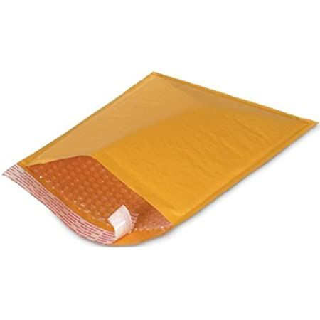 AM-Ink 250 Pcs #00 Kraft Bubble Padded Envelopes Mailers Yellow Shipping Bags 5x10