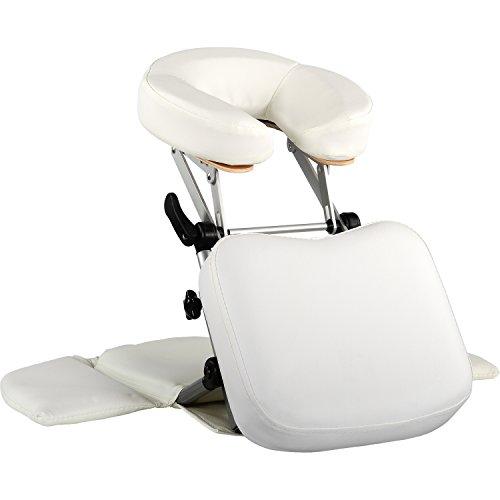 Movit® Massage Tischaufsatz/Mobile Kopfstütze, Faltbarer Alu Rahmen, inkl. Tragetasche, schadstoffgeprüft