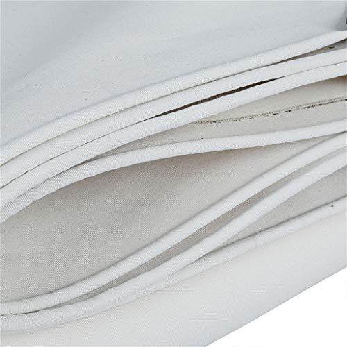 Qiutianchen Plane wasserdicht Plane Mehrzweck-Plane wasserdichte Bodenabdeckung Auto Boot Dach Regenschutz Campinganhänger Zelt - UV-geschützt (weiß) Poolabdeckung Plane (Size : 3MX6M)