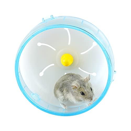 """Andiker Roue d'exercice pour Hamster 4.72"""", Accessoire de Cage de Hamster de Jouet d'exercice de Jogging Silencieux pour l'ours de Shih Tzu en Soie dorée de Hamster Nain (Bleu)"""