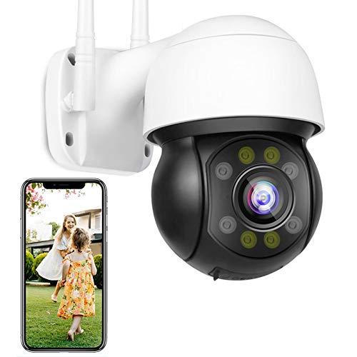 IP Cámara WiFi de Vigilancia Exteriores HD 1080P Impermeable IP66 PTZ Cámara Seguimiento Automático FTP Photo Alarma de Detección de Movimiento Visión Nocturna en Color Alarma de Voz DIY 【Cámara】