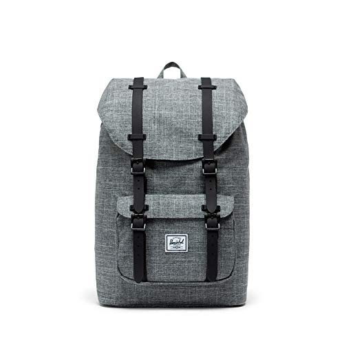 Herschel Little America Mid-Volume Raven Crosshatch/Black Rubber