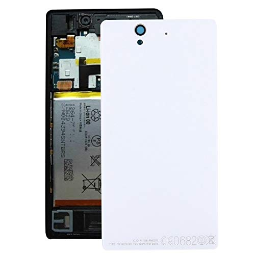 JSANSUI Phone Battery Replacement Replacement Battery Door Back Cover Rear Glass for Sony Xperia Z / L36h (Color : White)