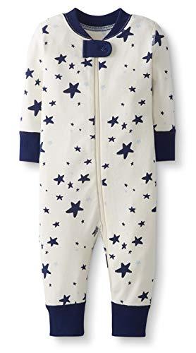 Moon and Back by Hanna Andersson Pyjama sans pied en coton bio pour tout-petits, bébés, Marine Star, 3 ans (87-97 CM)